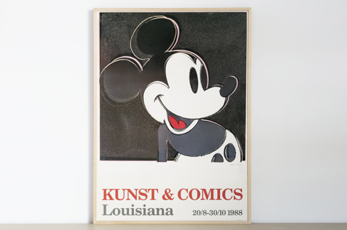 ANDY WARHOL,アンディ・ウォーホル,LOUISIANA MUSEUM,ルイジアナ美術館,mickey mouse,ミッキーマウス,myths,poster,ポスター,北欧